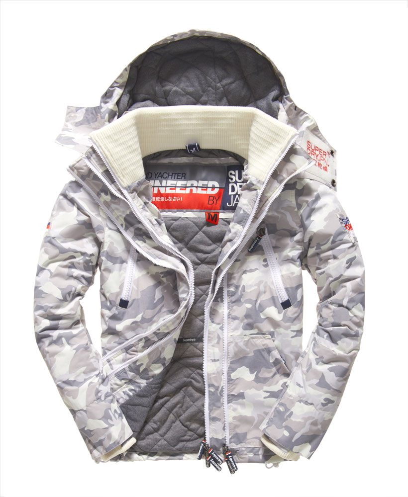 neue herren superdry wind yachter jacke snow camo ebay. Black Bedroom Furniture Sets. Home Design Ideas