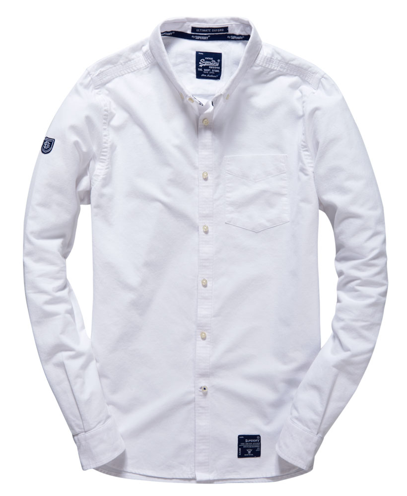 New Mens Superdry Ultimate Oxford Shirt Optic White Ebay