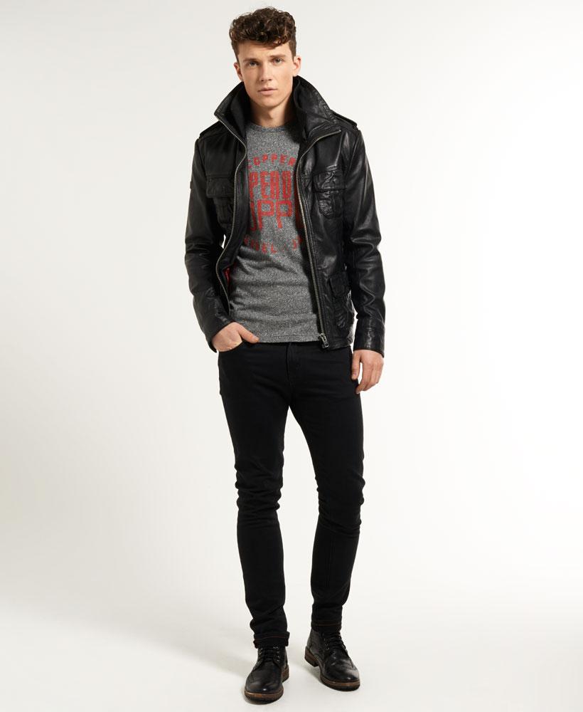Leather jacket superdry - Leather Jacket Superdry 37