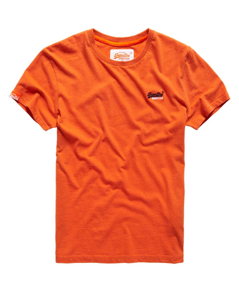 New mens superdry orange label vintage embroidery t shirt
