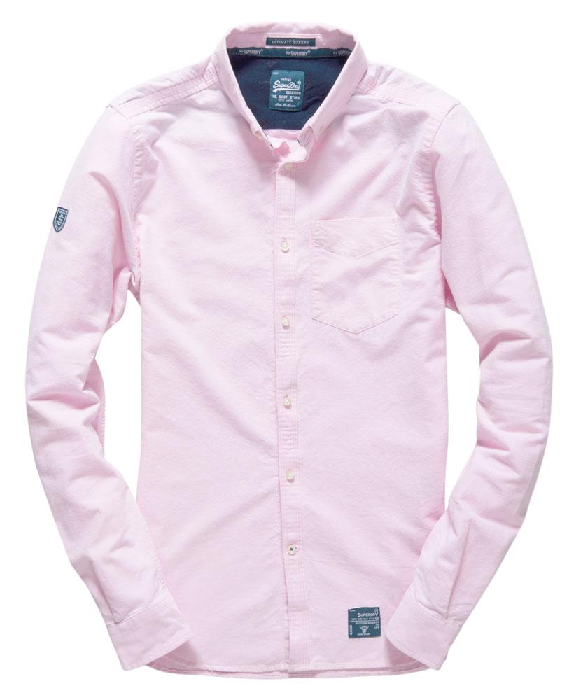 superdry chemise ultimate oxford pour homme rose ebay. Black Bedroom Furniture Sets. Home Design Ideas