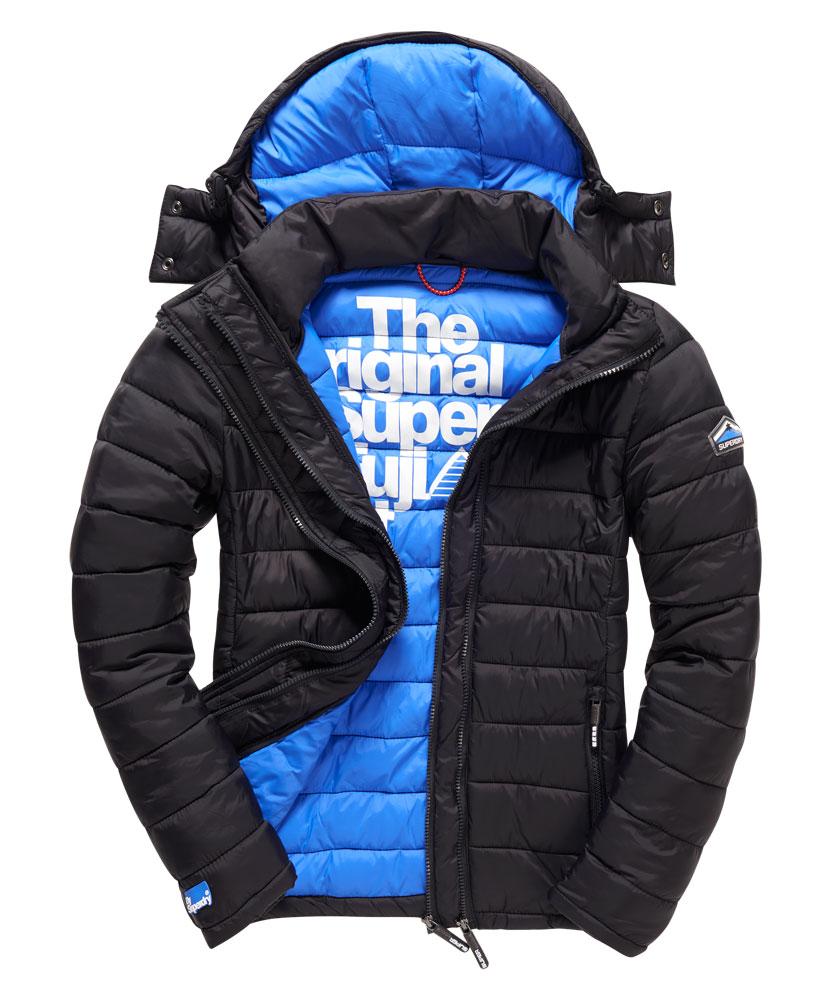 New Mens Superdry Fuji Double Zip Jacket Black Ebay