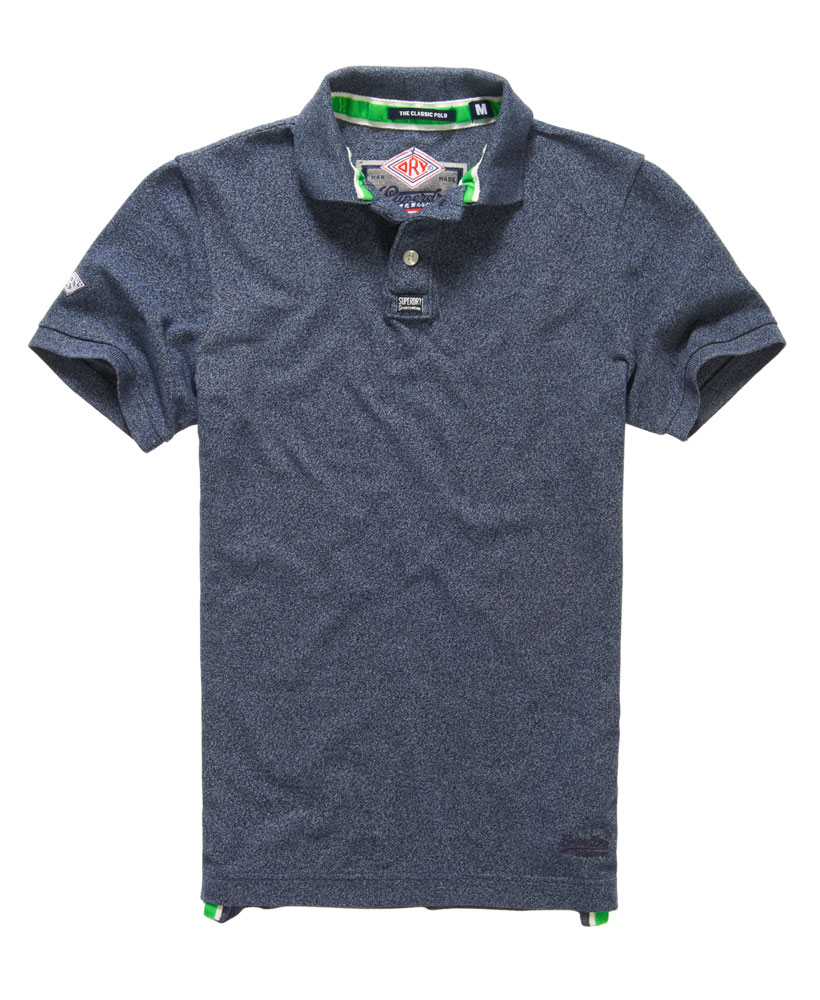 neues herren superdry classic piqu polo shirt eclipse navy grindle ebay. Black Bedroom Furniture Sets. Home Design Ideas