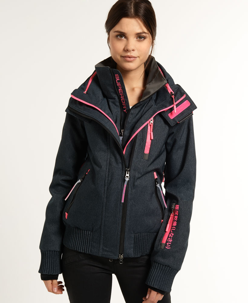 neue damen superdry jacke snow wind bomberdenim. Black Bedroom Furniture Sets. Home Design Ideas