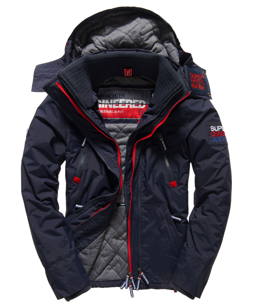 neue herren superdry herren wind yachter jacke navy ebay. Black Bedroom Furniture Sets. Home Design Ideas