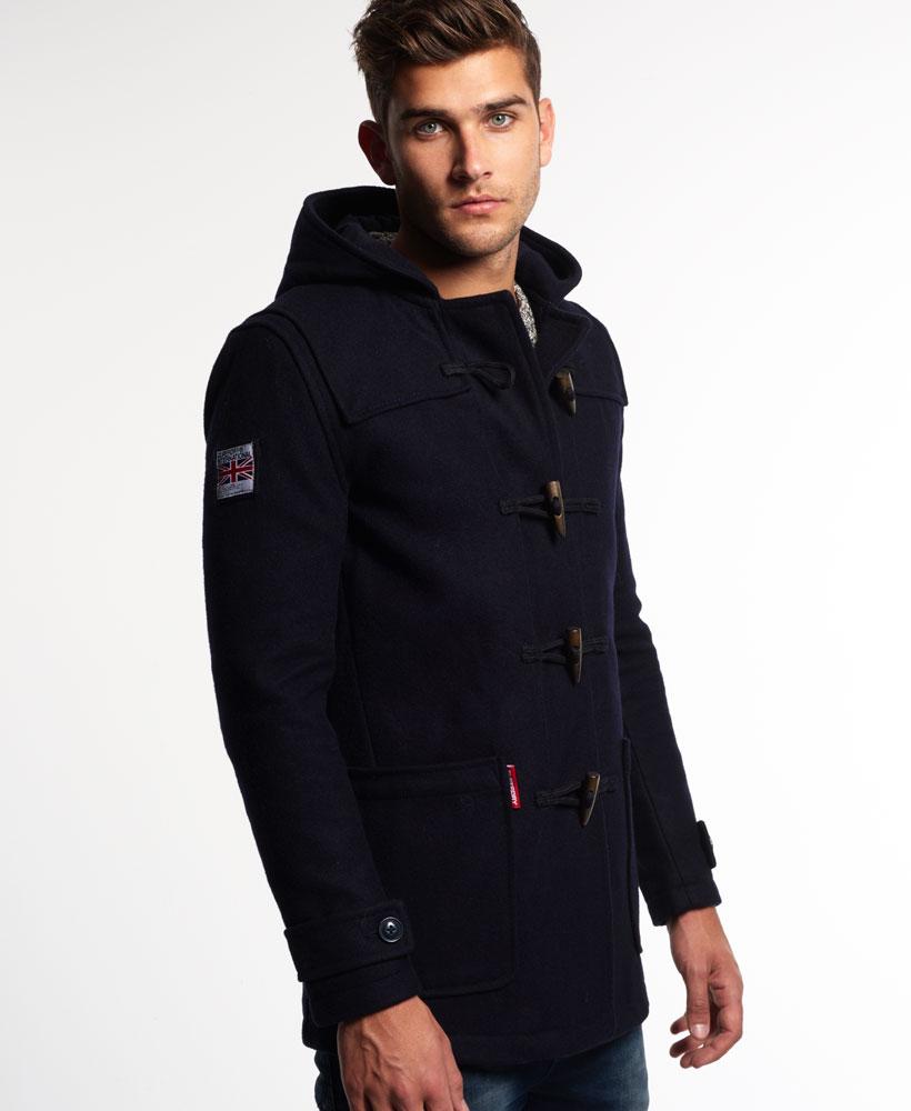 New Mens Superdry Rookie Duffle Coat Navy | eBay