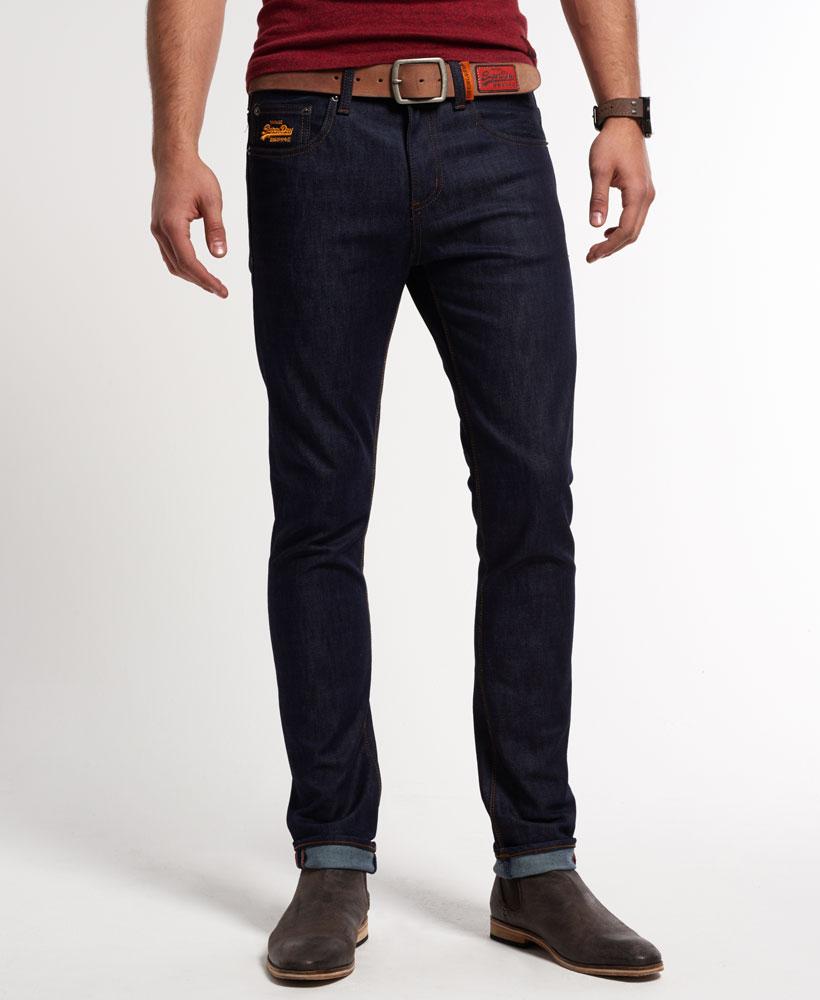 neue herren superdry standard skinny jeans super raw ebay. Black Bedroom Furniture Sets. Home Design Ideas