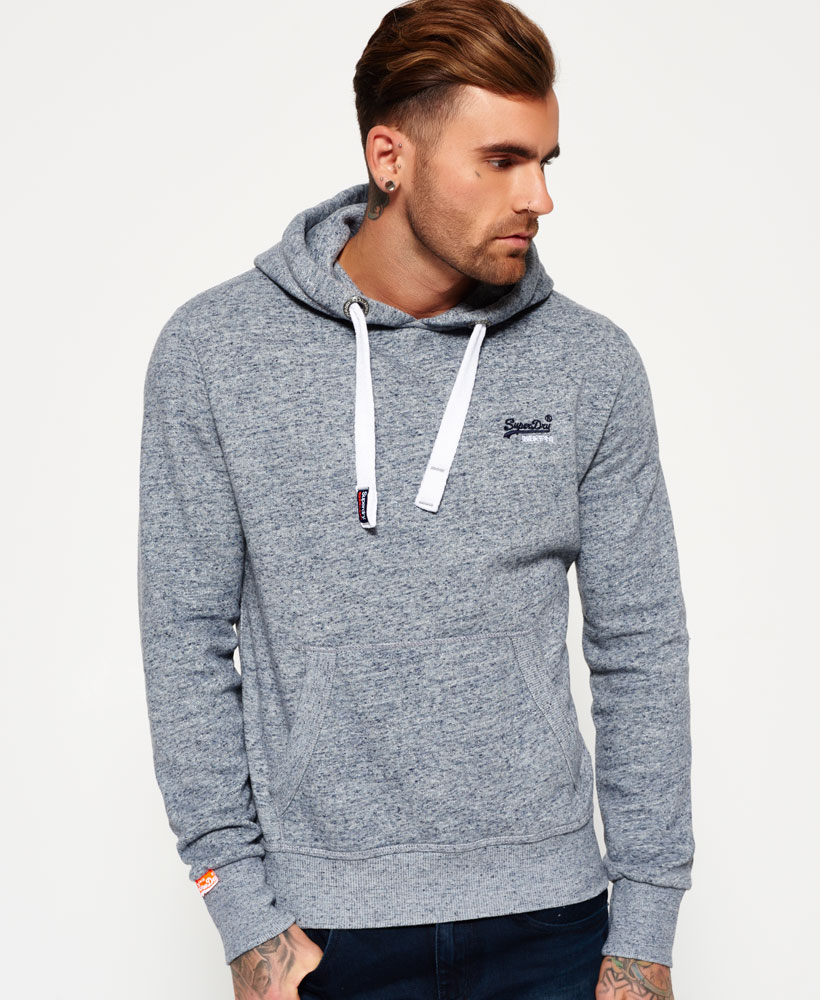 neuer herren superdry orange label hoodie pearl blau. Black Bedroom Furniture Sets. Home Design Ideas