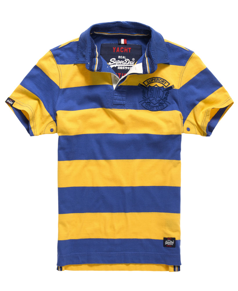Vintage Valiant Rugby Shirt In Ultramarine Gold