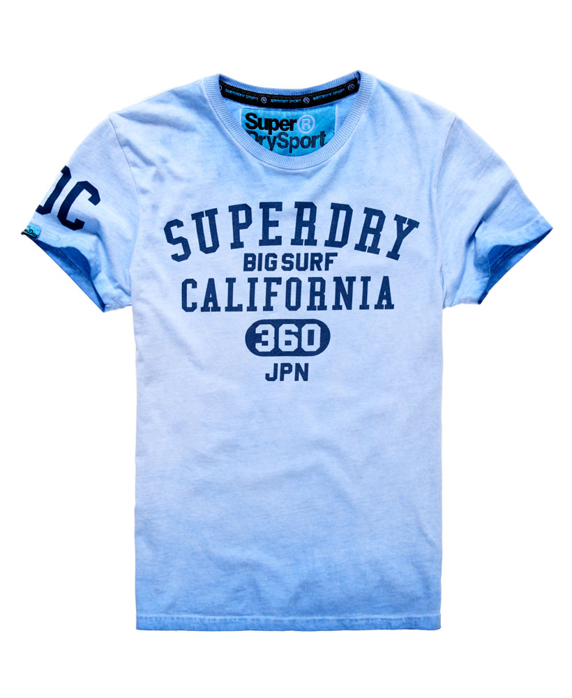 new mens superdry big surf t shirt optic light indigo ebay. Black Bedroom Furniture Sets. Home Design Ideas