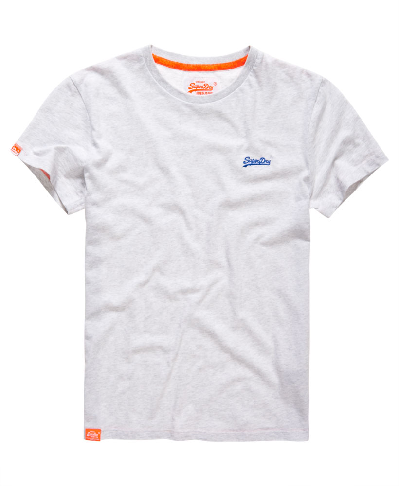 New mens superdry vintage embroidery t shirt ice marl ebay