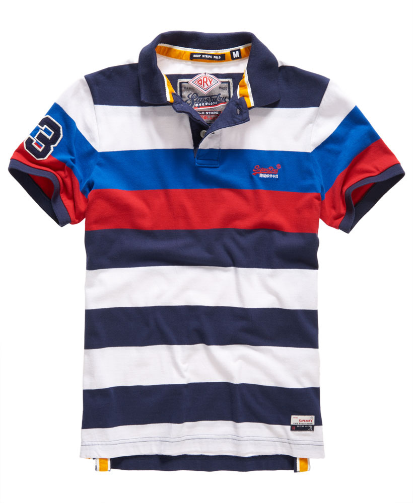 new mens superdry duo hoop stripe polo shirt rigging navy. Black Bedroom Furniture Sets. Home Design Ideas