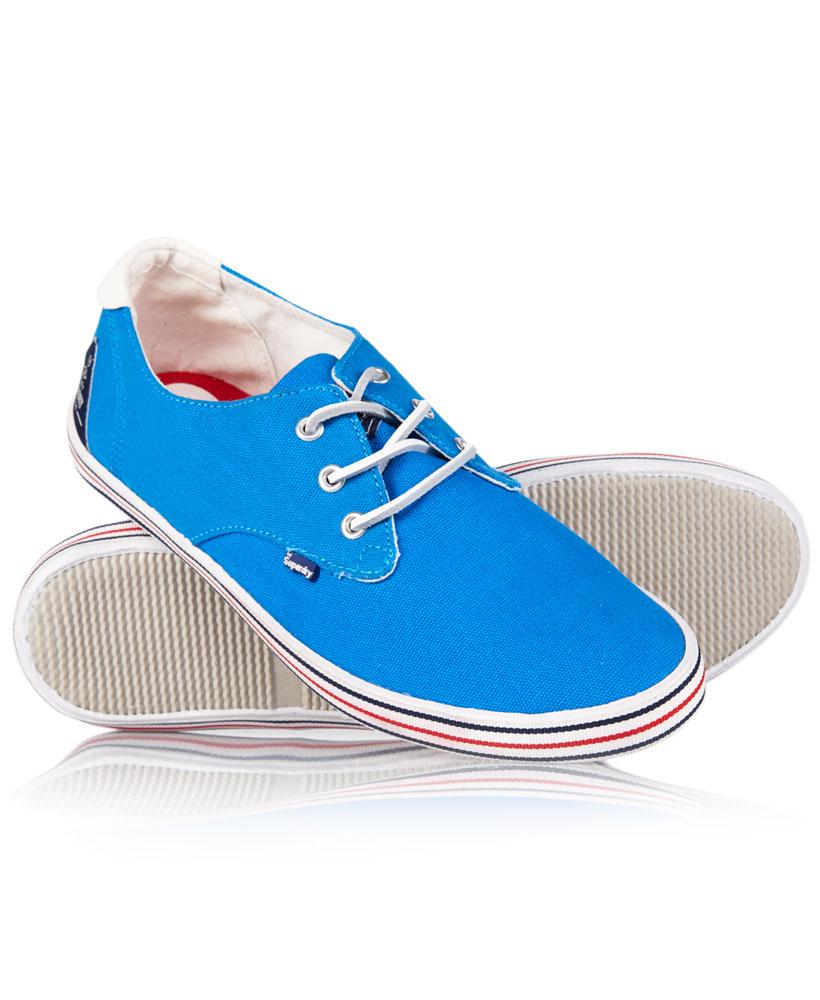 new mens superdry skipper shoes cobalt canvas ebay