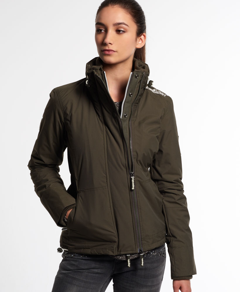 neue damen superdry jacke arctic wind attacker army ebay. Black Bedroom Furniture Sets. Home Design Ideas
