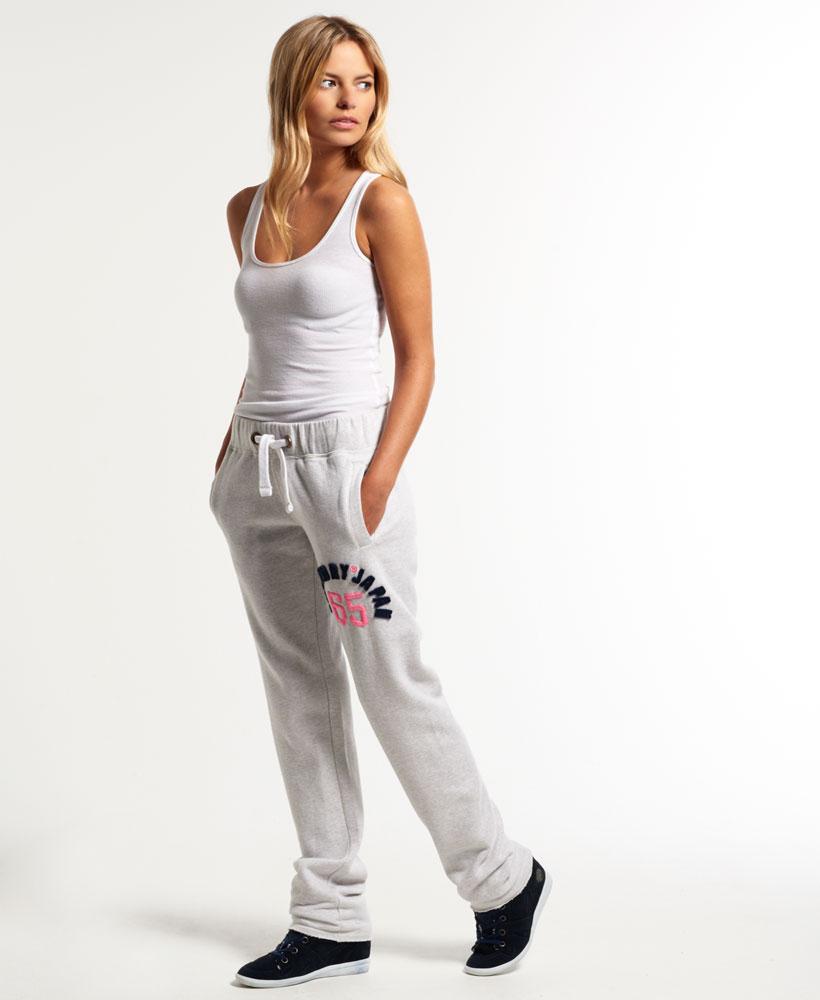 neue damen superdry applique slim jogginghose ice marl ebay. Black Bedroom Furniture Sets. Home Design Ideas