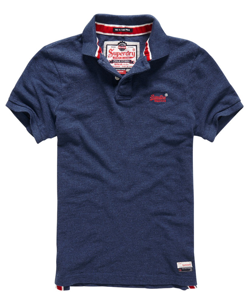 neues herren superdry classic pique polo shirt marvel blau grindle ebay