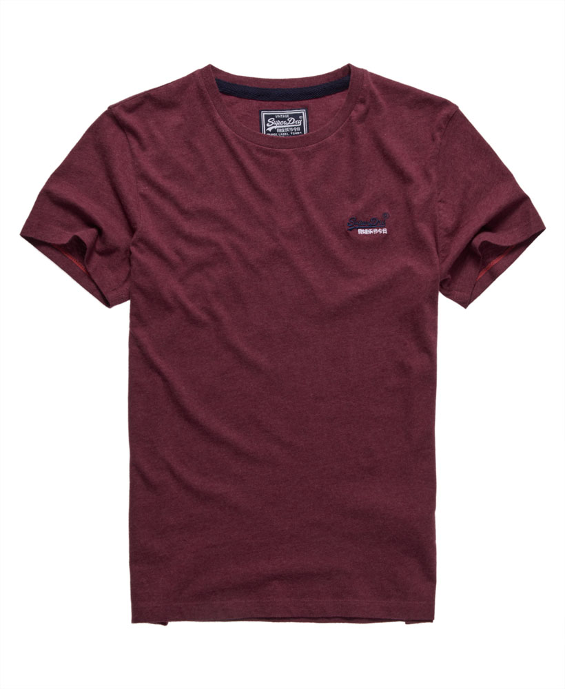 New mens superdry vintage embroidery t shirt ruby marl ebay