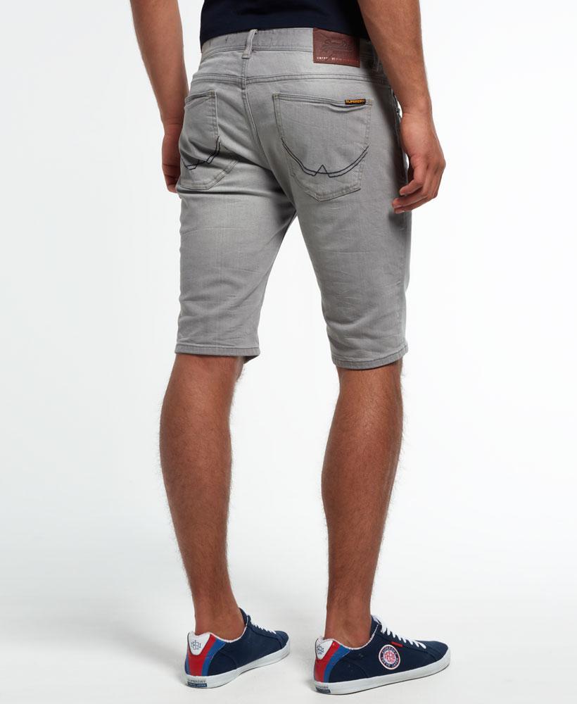 New Mens Superdry Officer Denim Shorts Faded Grey | eBay