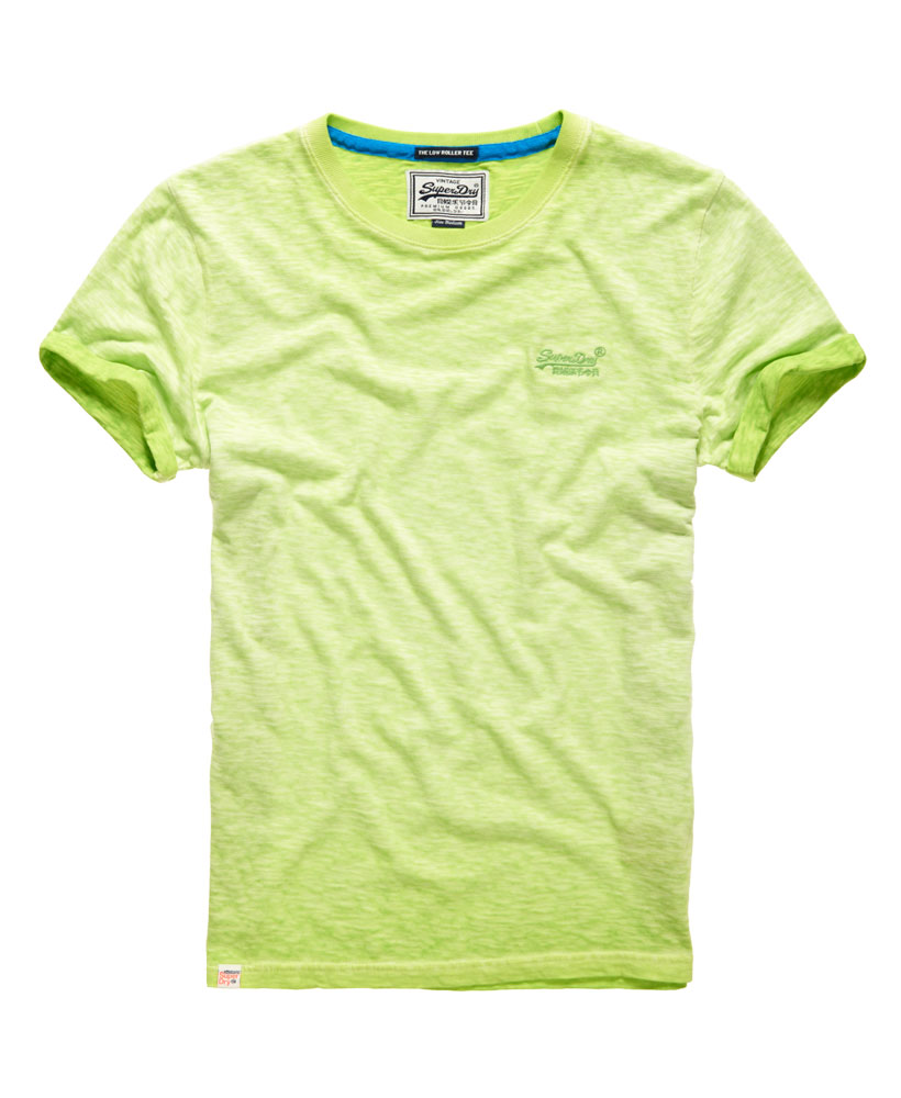 New Mens Superdry Low Roller T Shirt Lime Green Ebay