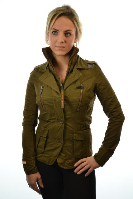 Image is loading New-Womens-Superdry-Military-Blazer-V-10-Jacket