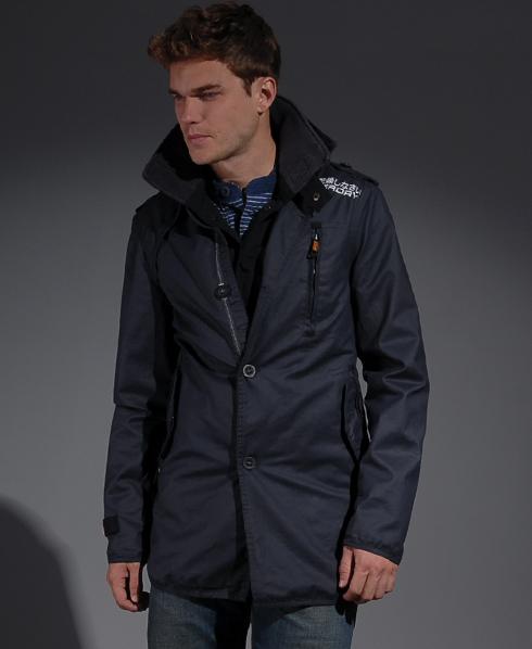 new mens superdry jermyn street wax jacket hd ebay. Black Bedroom Furniture Sets. Home Design Ideas
