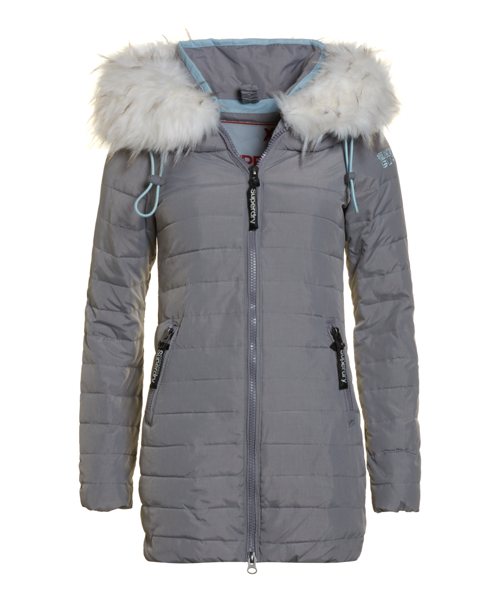 neue damen superdry jacke marl wind skier mantel grey marl. Black Bedroom Furniture Sets. Home Design Ideas