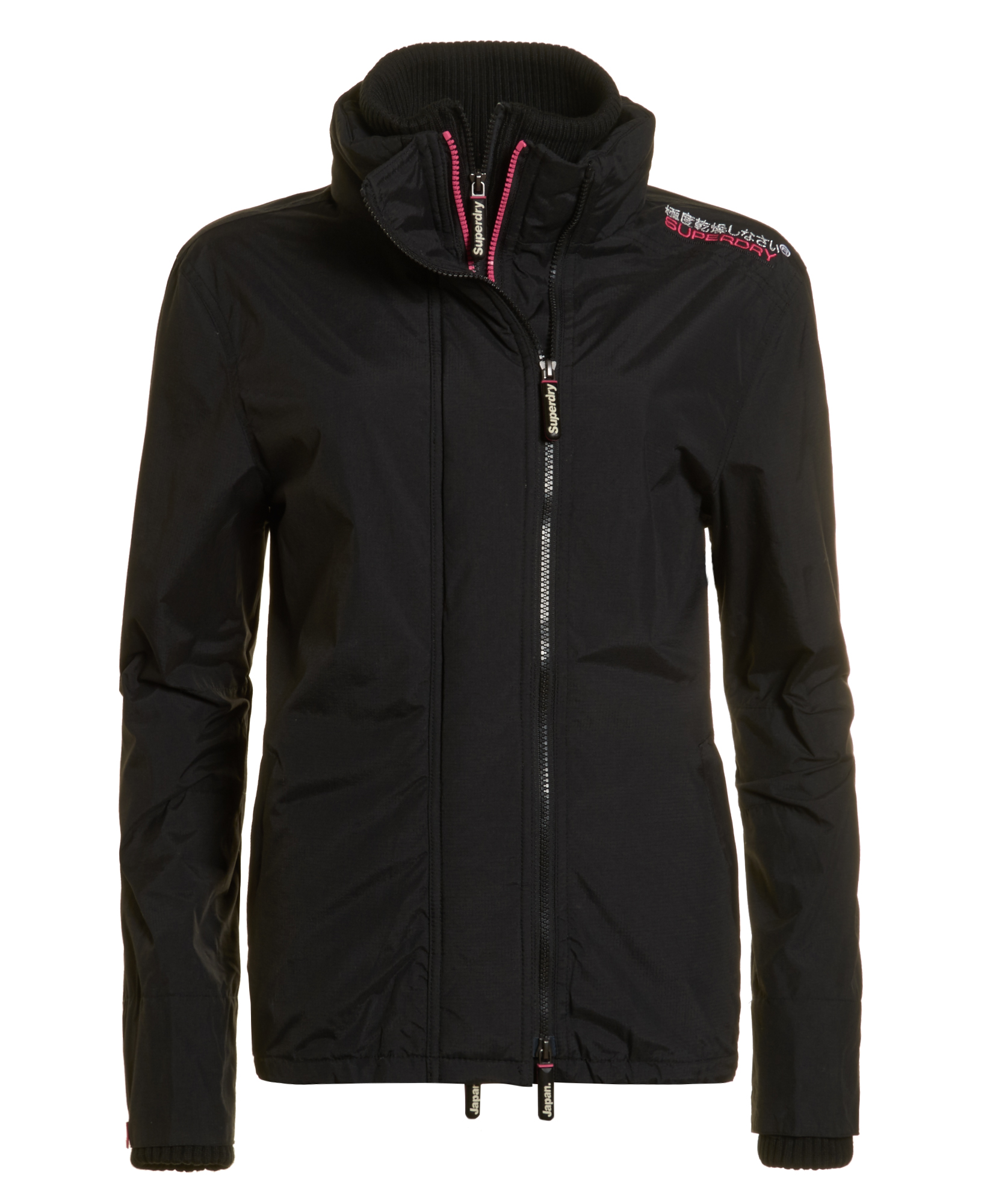 neue damen superdry jacke technical pop zip windcheater. Black Bedroom Furniture Sets. Home Design Ideas
