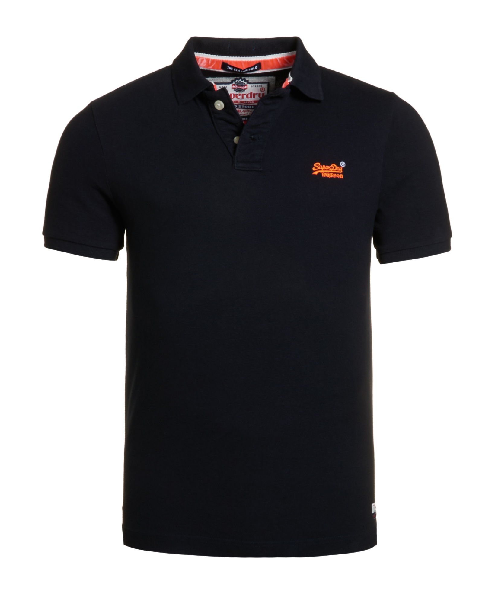 neues herren superdry classic pique polo shirt total eclipse ebay. Black Bedroom Furniture Sets. Home Design Ideas