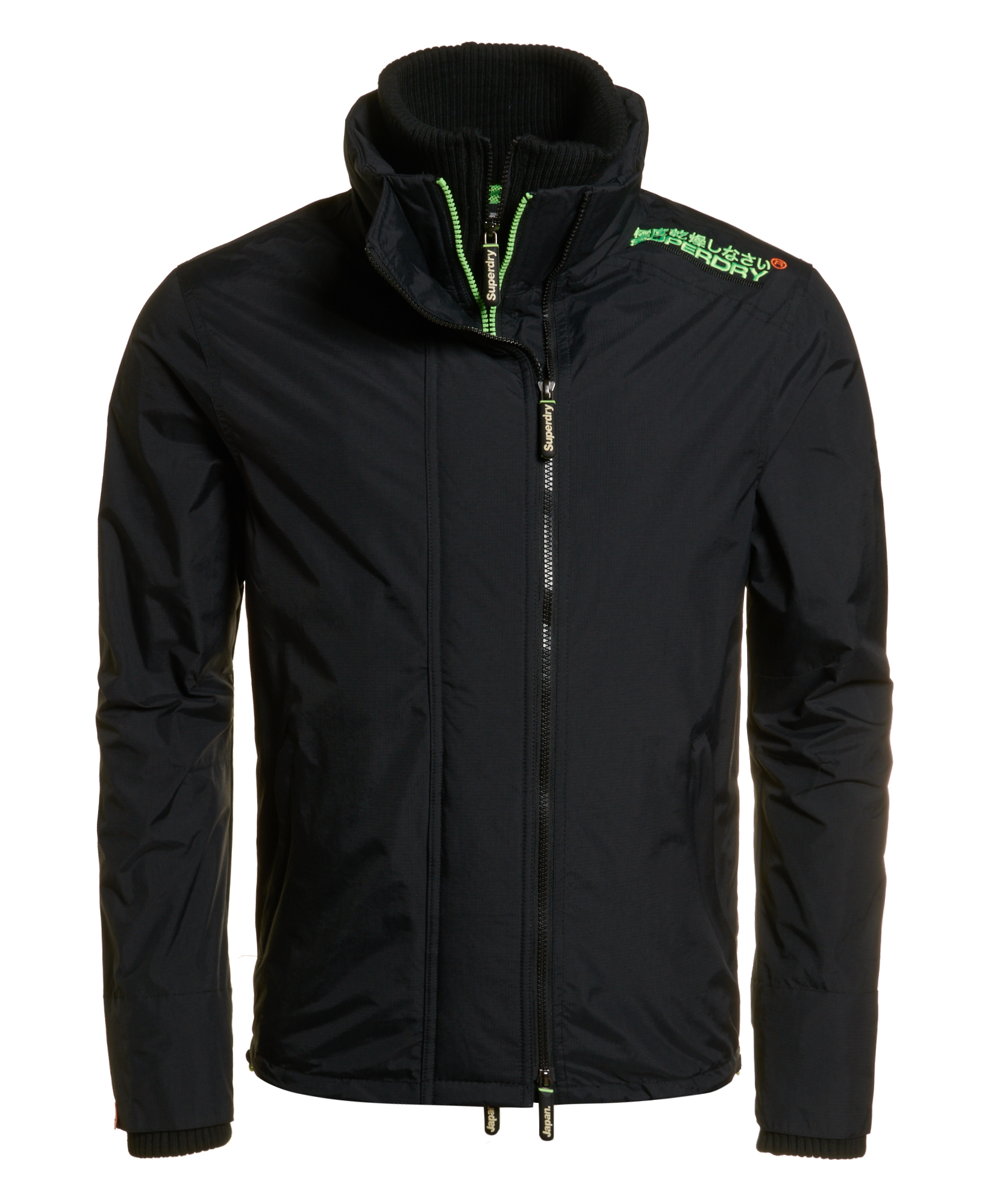 neue herren superdry pop zip windcheater jacke black ebay. Black Bedroom Furniture Sets. Home Design Ideas