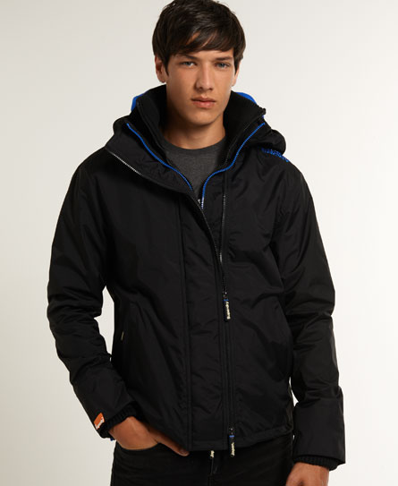 neue herren superdry winterjacke arctic windcheater black ebay. Black Bedroom Furniture Sets. Home Design Ideas