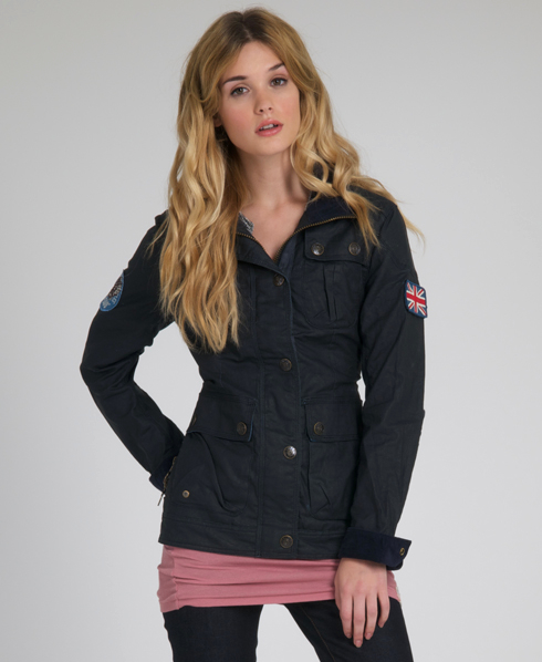 3857d74571 New Womens SUPERDRY Wax Transcontinent Jacket Ad on PopScreen