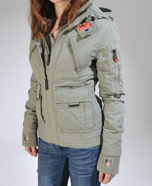 New Womens Superdry Patrol Parka Jacket AH