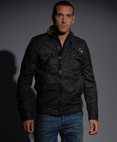 New-Mens-Superdry-Scrambler-Wax-Jacket-Black-AA