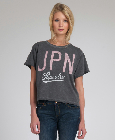 New Womens Superdry JPN 23 T-Shirt HF