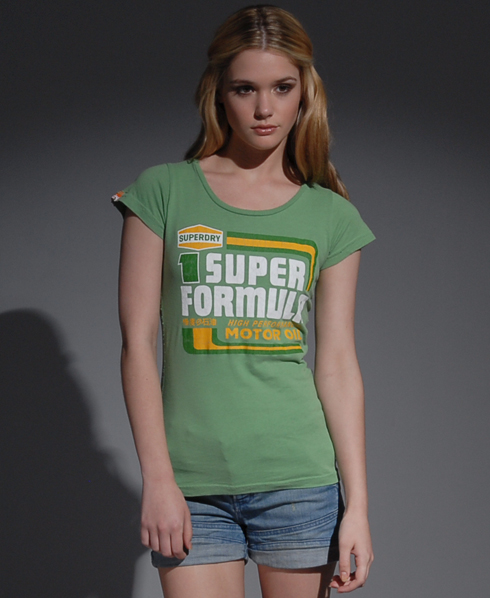 New Womens Superdry Formula T-Shirt HF