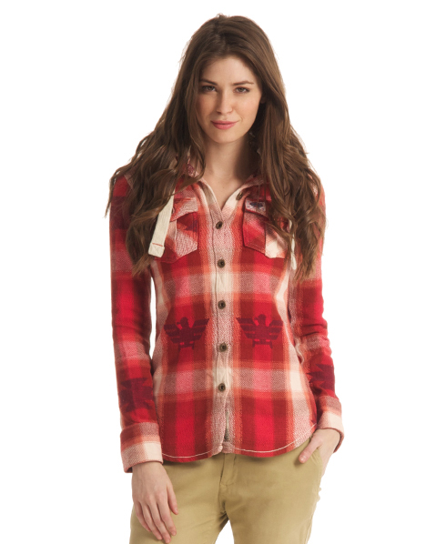 New Womens Superdry Super Sioux Shirt