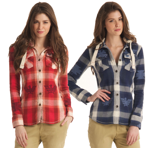 New-Womens-Superdry-Super-Sioux-Shirt