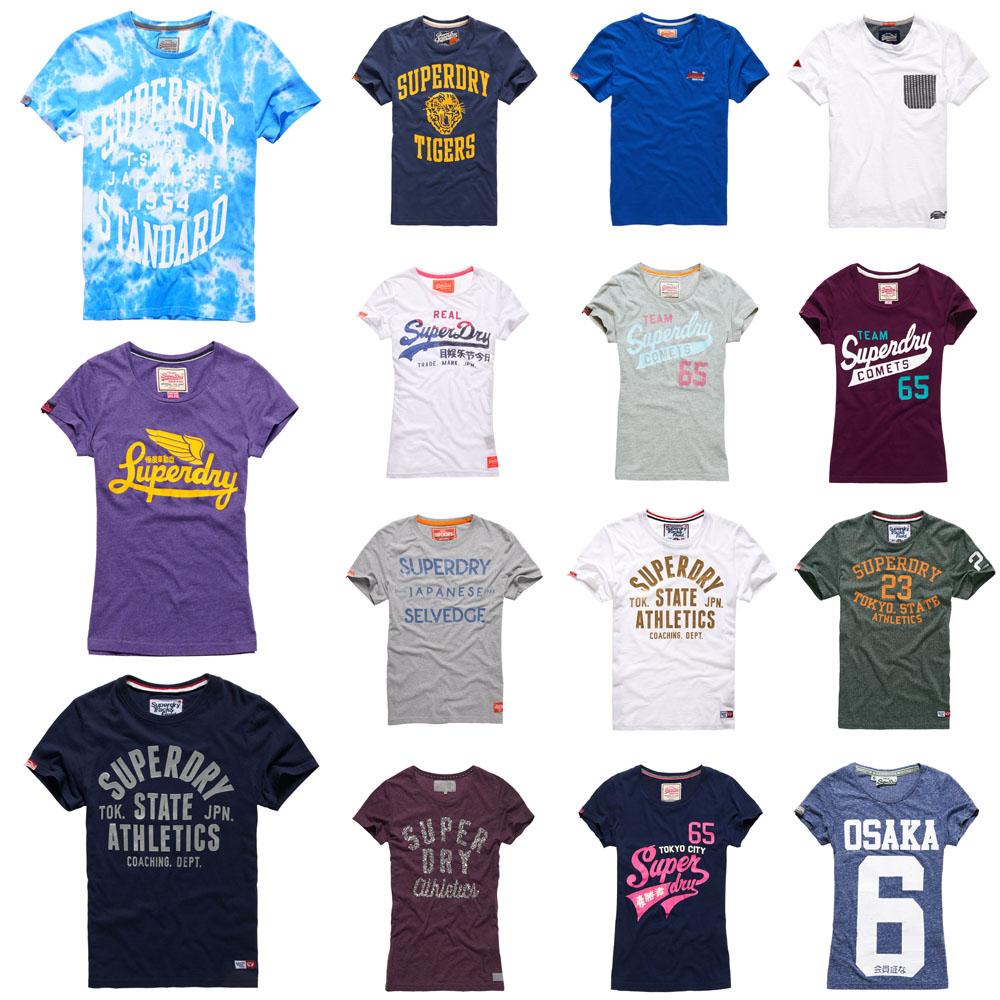 neues superdry t shirts f r m nner und frauen versch modelle und farben ebay. Black Bedroom Furniture Sets. Home Design Ideas
