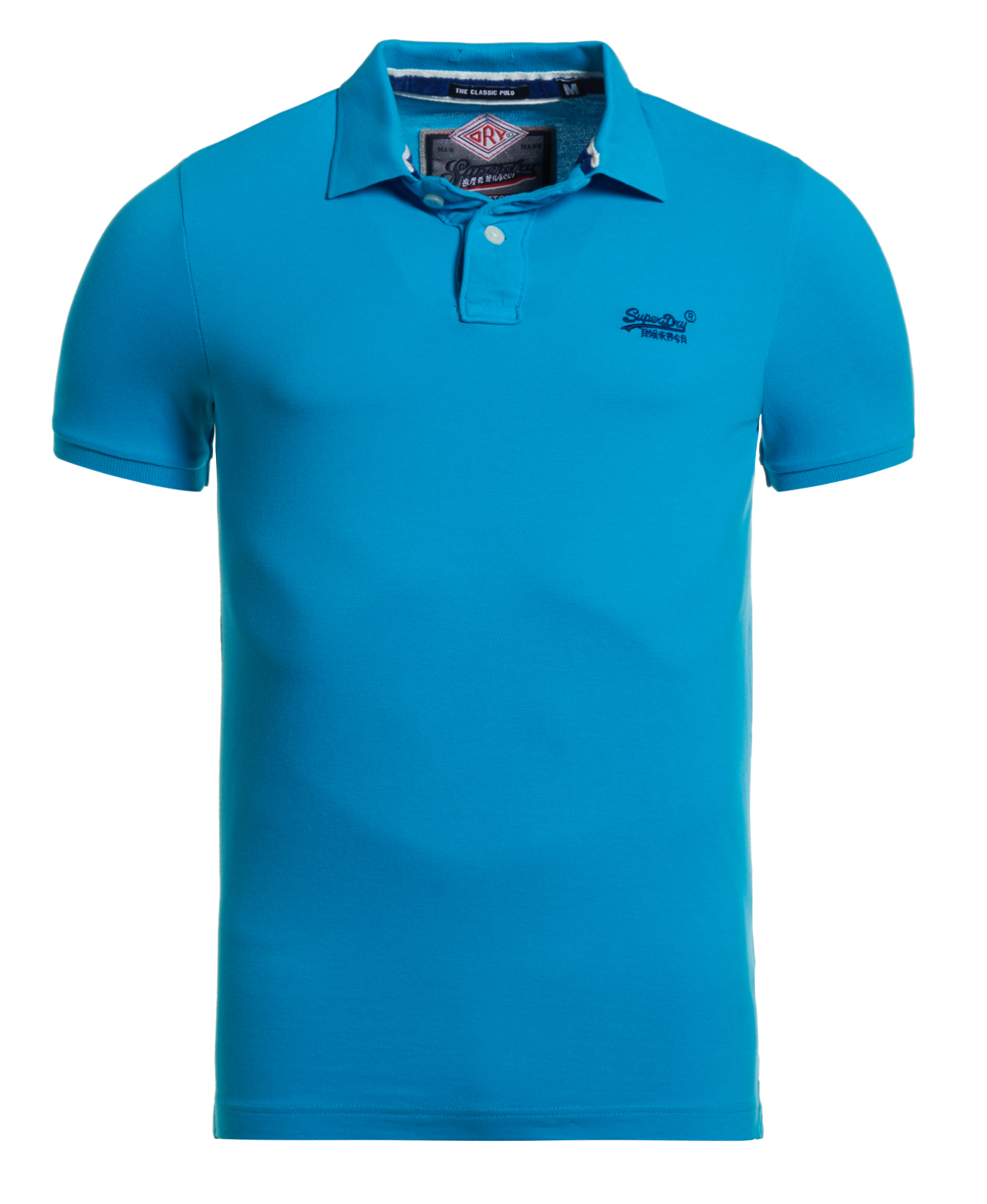 neues herren superdry ss classic pique polo shirt hawaii blau. Black Bedroom Furniture Sets. Home Design Ideas