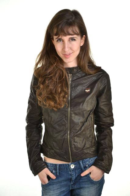 New Womens Superdry Basic Biker Leather Jacket Brown