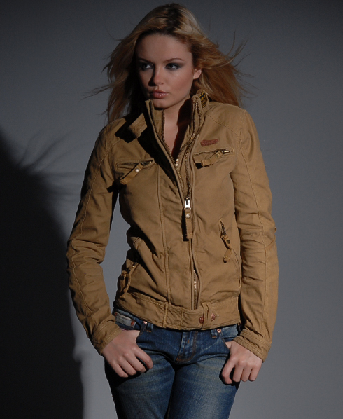 New-Womens-Superdry-Hunting-Jacket-Dark-Duck-Brown