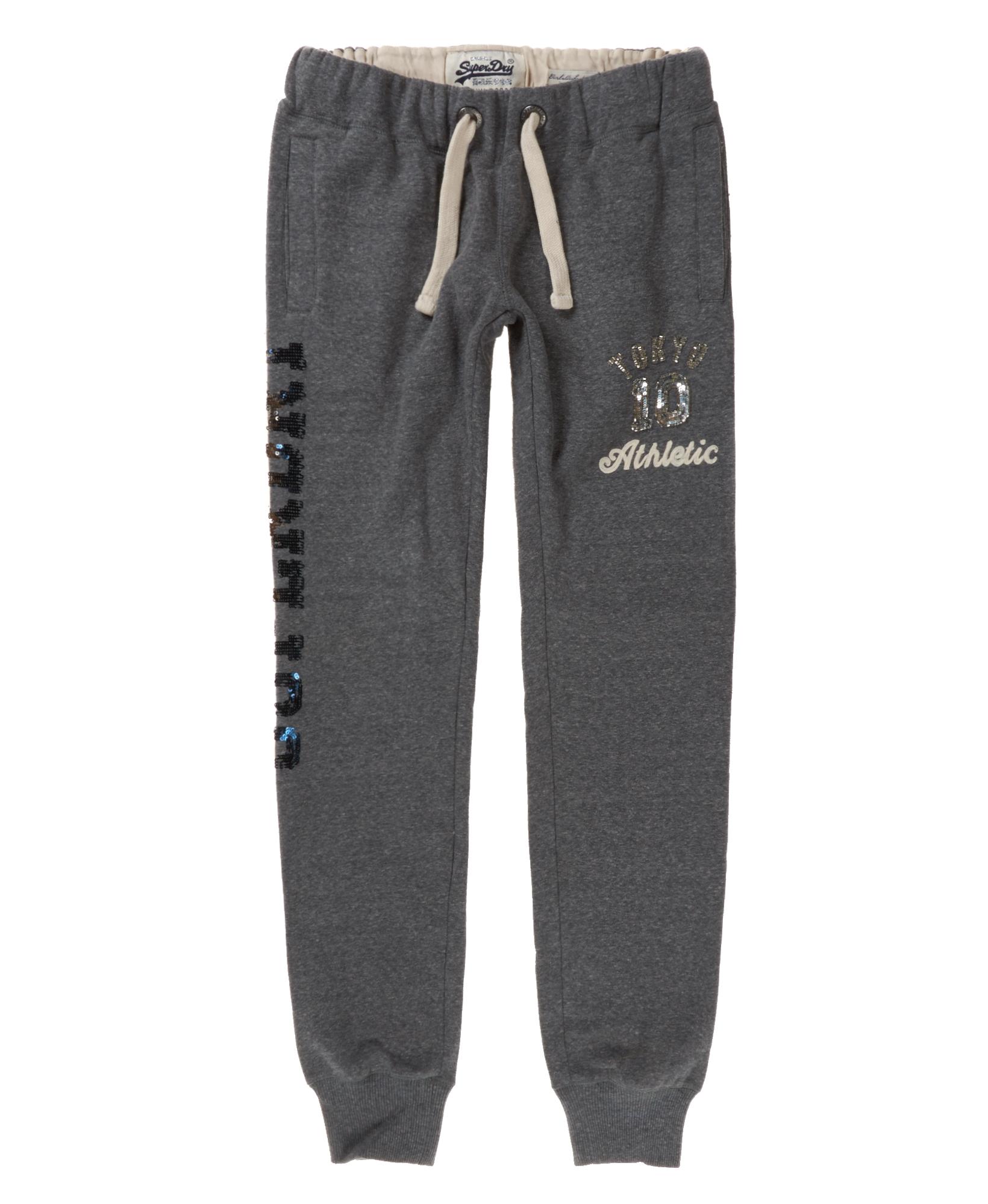 neue damen superdry ombre sparkle tokyo jogginghose dark meliert. Black Bedroom Furniture Sets. Home Design Ideas