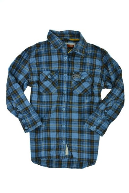New Mens Superdry Super 3/4 Sleeved Check Shirt Blue TSD
