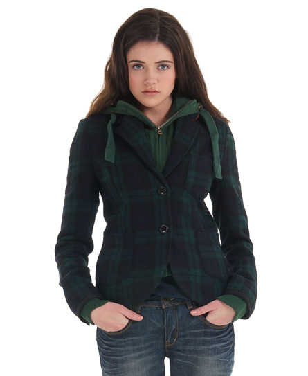 New Womens Superdry Woody Blazer Jacket