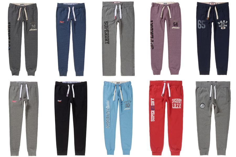 neue superdry jogginghosen f r m nner und frauen versch modelle und farben ebay. Black Bedroom Furniture Sets. Home Design Ideas