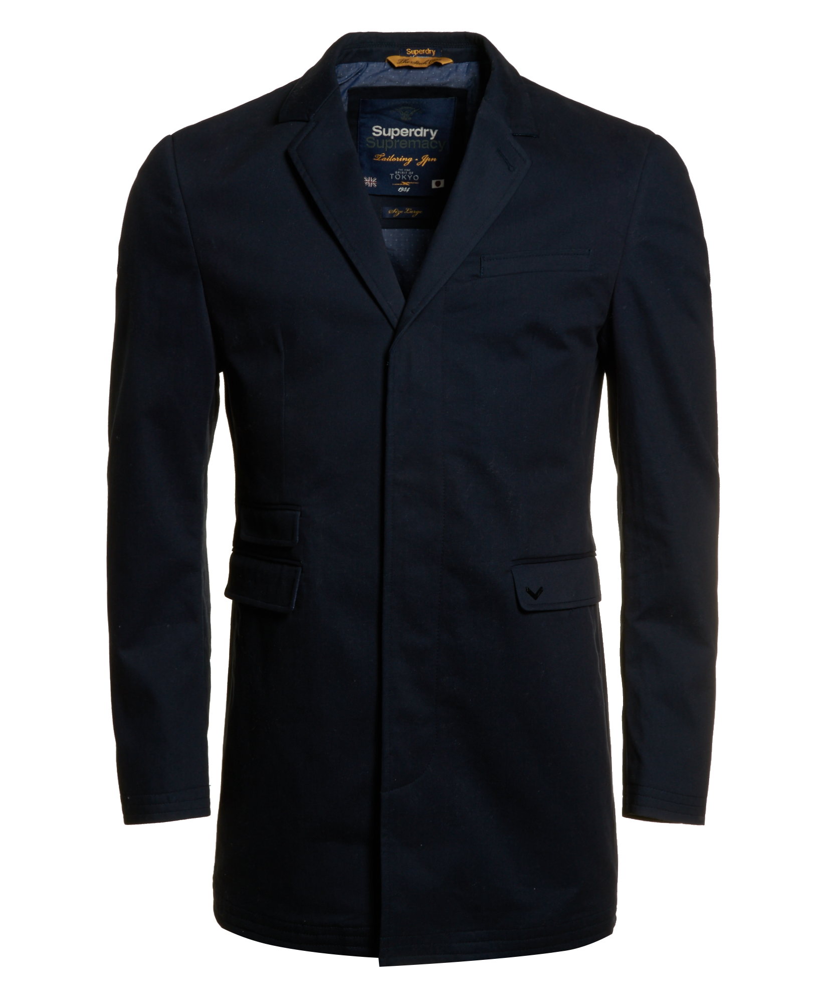 neue herren superdry jacke twilight stock coat dark navy ebay. Black Bedroom Furniture Sets. Home Design Ideas