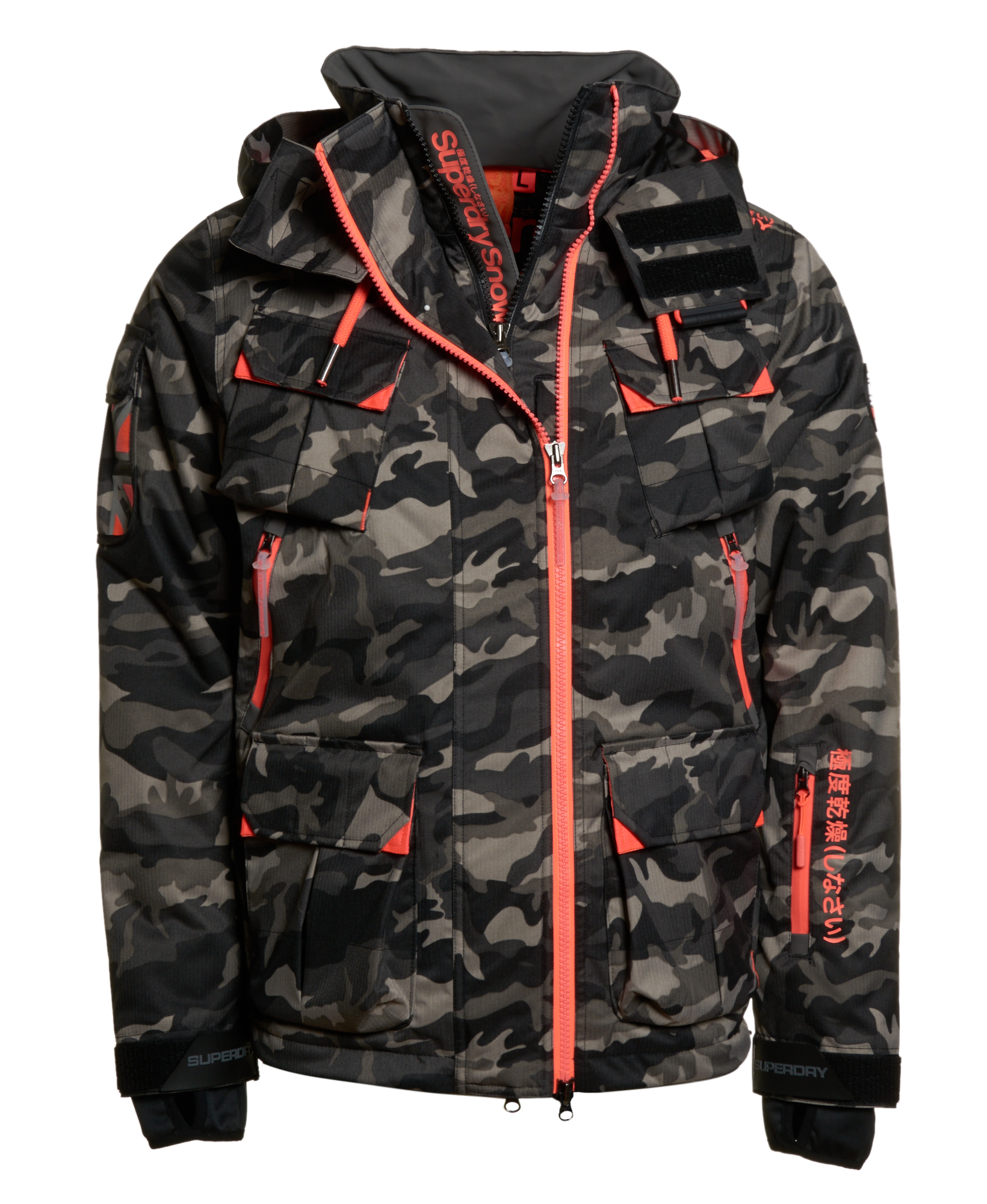 neue herren superdry jacke ultimate snow service jacket schwarz ice camo ebay. Black Bedroom Furniture Sets. Home Design Ideas
