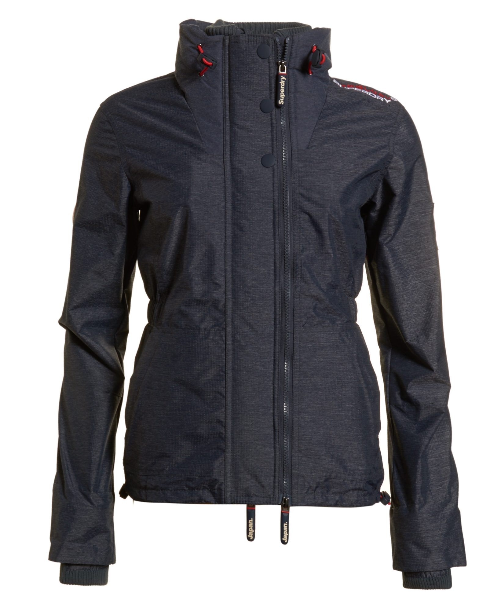 neue damen superdry jacke technical wind attacker dark navy meliert ebay. Black Bedroom Furniture Sets. Home Design Ideas