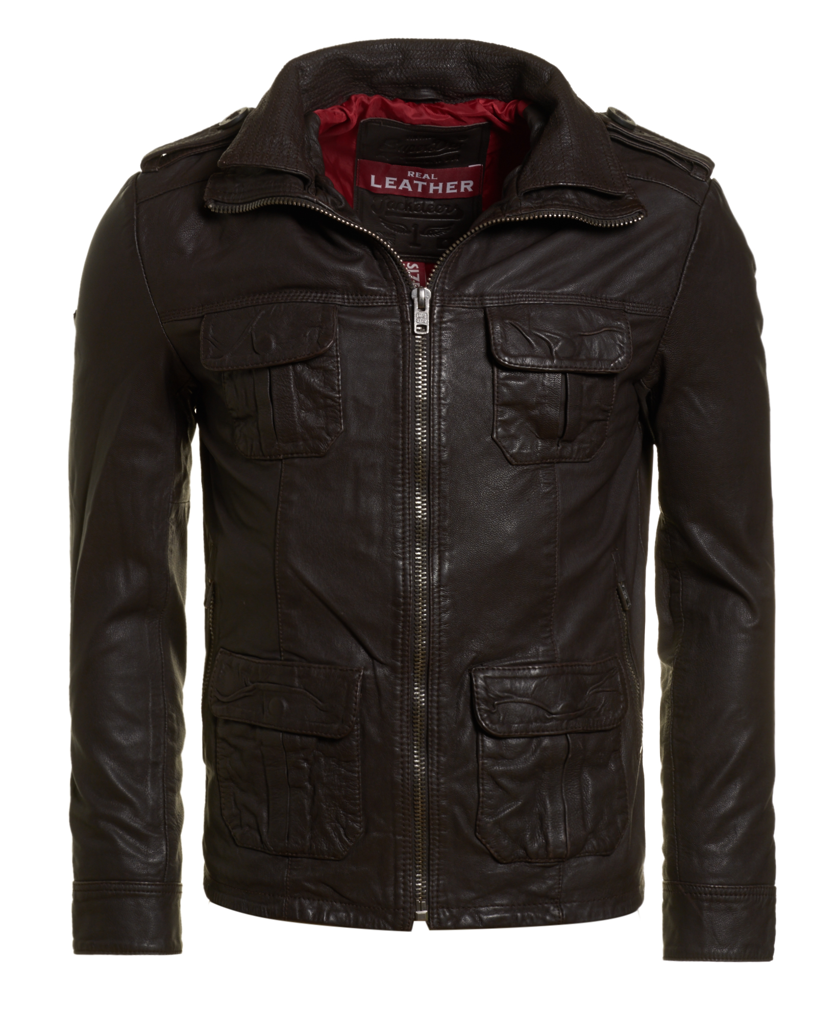 neue herren superdry jacke new brad hero jacket brown ebay. Black Bedroom Furniture Sets. Home Design Ideas