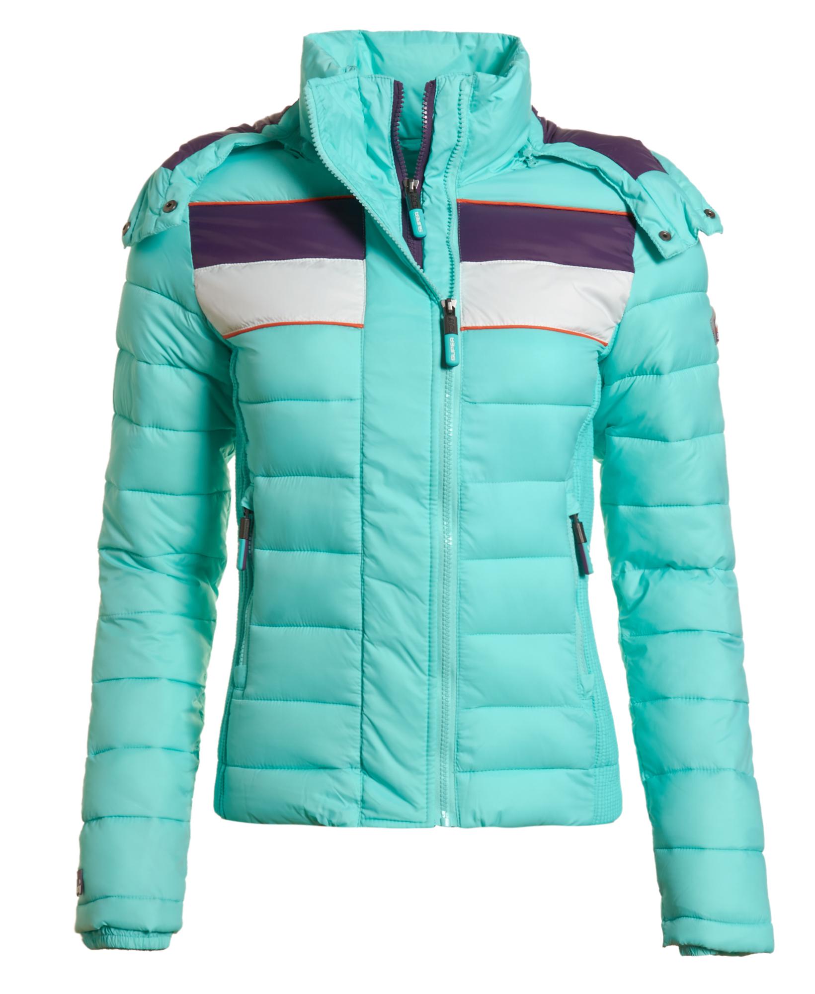 neue damen superdry jacke sun sport fuji jacket opal blau. Black Bedroom Furniture Sets. Home Design Ideas